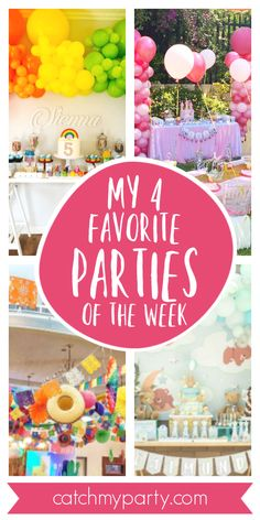 My favorite parties this week include a pretty My Little Pony birthday party, a … – Cute Adorable Baby Outfits My Little Pony Birthday Party, Boy Birthday Parties, 4th Birthday, Princess Birthday, Princess Party, Baby Shower Cakes For Boys, Rainbow Parties, Fiesta Party, Festival Celebration