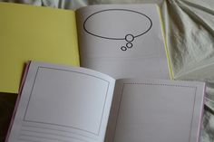 blank story books: free download. Sized for both US Letter and A4 sized paper. Give a couple to a kid with a packet of pencils and watch them create!