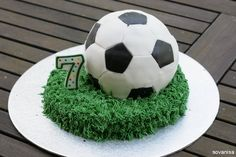Make a soccer ball cake for your favorite soccer fan! - A Little Craft In Your Day