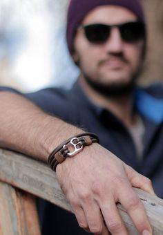 Leather wrap bracelet mens leather bracelet mens jewelry