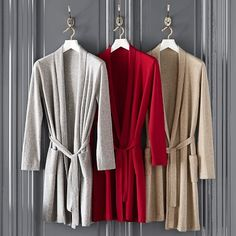 Wrap yourself in luxury with our Cashmere Robe #williamssonoma #luxe