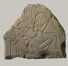 Relief of Haremhab, New Kingdom, Dynasty 18, reign of Haremhab, c. 1323 - 1295 BC    http://www.metmuseum.org/toah/works-of-art/66.99.44