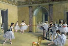 The dance foyer at the Opera on the Rue Le Peletier (1872).