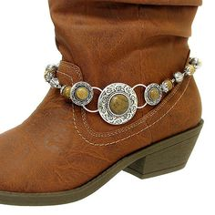 Fashion Jewelry ~ Turquoise Red and Silver Beads Round Filigree Boot Charm Anklet (Style Boot Charms , beads shop Boot Jewelry, Anklet Jewelry, Bling Jewelry, Diy Jewelry, Handmade Jewelry, Jewelry Design, Jewelry Making, Boots Boho, Cowgirl Boots