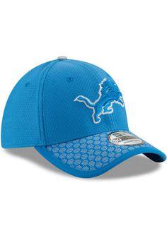 9c2824ba4a2 New Era Detroit Lions Mens Blue 2017 Official Sideline Flex Hat