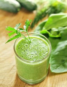 """""""If you're feeling a little sluggish and slow on the uptake, you're not alone. Symptoms of perimenopause include fatigue and memory problems, which may be due in part to fluctuating estrogen levels. For an energy boost that might also give you a cognitive spark, try a glass of the phytoestrogen-rich green drink I swear by.""""—Dr. Oz ... double-click for the Energizing Green Drink Recipe"""