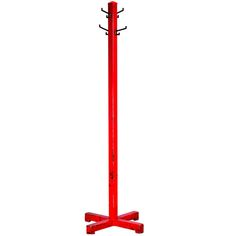 Red Painted Coat Rack | From a unique collection of antique and modern coat stands at http://www.1stdibs.com/furniture/more-furniture-collectibles/coat-stands/