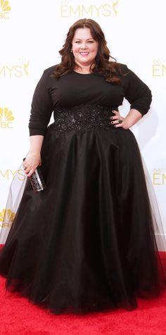 Emmy Awards 2014 Red Carpet Photos - Melissa McCarthy in custom Marchesa. #InStyle