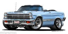 1966-7-Ford-Fairlane-Cartoon-Car-Wall-Graphic-Decals-Man-Cave-Garage-Bar-Decor