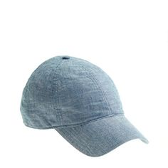 need this for the days I don't want to do my hair! Chambray Cap J.Crew $29.50