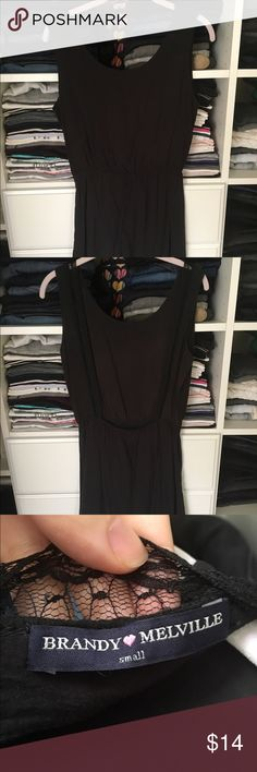 Brandy Melville Dress Lace detail on bottom of dress and back open design. Previously worn but in excellent condition! Open to reasonable offers through feature! Brandy Melville Dresses