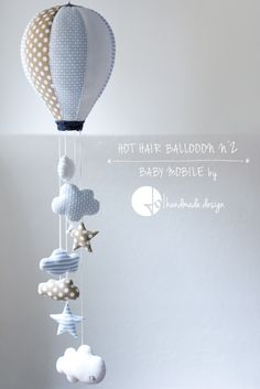 © Jo - handmade design: Hot Hair Balloon, Baby Mobile
