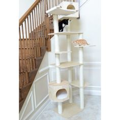 Do you have climbers in your house? If so, our Large Cat Tree Sky Cube is maybe just what your cats need. Cat Tree House, Cat Tree Condo, Cat Condo, Tree Furniture, Condo Furniture, Feral Cat House, Cat Window Perch, Cat Climbing Tree, Large Cat Tree