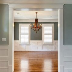 Wainscott Walls, Baseboard Molding, Moldings And Trim, Craftsman Style, Architecture Details, My Dream Home, New Homes, Remodeling Ideas, Foyer