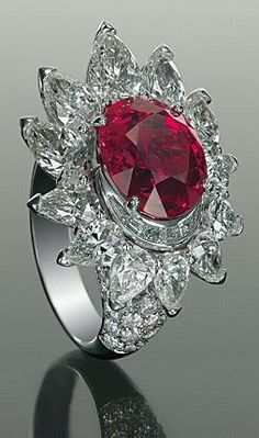 Bulgari Ruby ring w/ Diamonds