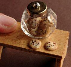 Dollhouse Miniature Cookie Jar 1/12 Scale by fairchildart on Etsy