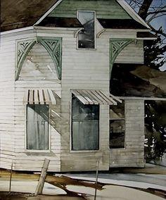 "Lewiston Farmhouse by Joseph Alleman Watercolor ~ 22"" x 18"""