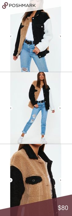 3b98d3edd38 Color block teddy coat BNWT Unfortunately I cannot return this item and it  is a little too big    says size 0 but is more like a 2 or small. PRICE IS  FIRM!