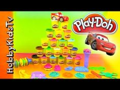 PLAY DOH Rainbow Pack, Lightning McQueen Makes Animal Shapes! Playmat, Tools, Mold. Play-doh Super Rainbow Value Pack by Hasbro. Lightning McQueen makes animal shapes in this episode of Play Doh Toys. He teaches colors, shapes, animal sounds. Great video for preschoolers, toddlers, and kindergarteners. Teachers and parents love these fun videos for their kids. It has many animal shapes and molds. Great Accessories included with this kit. #hobbykidstvPLAYDOH  #hobbykidstvCARS…