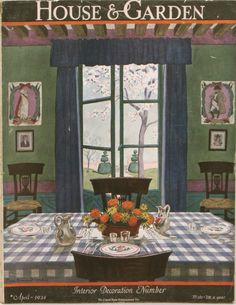 Pierre Brissaud's totally charming country Directoire-style breakfast room, painted for House & Garden, April 1924