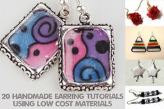 Learn How to Make Earrings From Low Cost (and No Cost) Supplies: Free DIY Earring Tutorials and Projects Using Low Cost Supplies