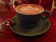 A latte to complete my breakfast