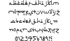 Psuedo Saudi font by Iconian Fonts Handwriting Alphabet, Calligraphy Alphabet, Calligraphy Fonts, Font Alphabet, Islamic Calligraphy, Script Fonts, Monogram Fonts, Monogram Letters, Free Monogram