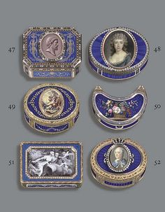 A SWISS ENAMELLED AND JEWELLED GOLD SNUFF-BOX SET WITH A MIN