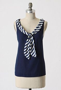 Nautical Inspired Shirt Refashion (from a tank top) tutorial found here: http://site.alifosterpatterns.com/blog/2010/05/14/nautical-inspired-shirt-refashion/