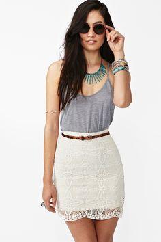 Jillian Crochet Skirt - Ivory