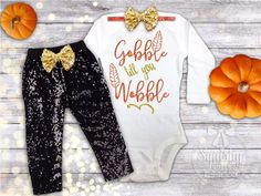 nice Baby Girl Thanksgiving Outfit, 1st Thanksgiving Outfit, Newborn Thanksgiving Out...