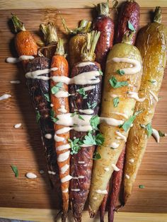 These roasted carrots with tahini dressing are a perfect side for any meal or can be eaten on their own (yup, done it). Simple to make with only a few ingredients. They're paleo, whole 30 and vegan.