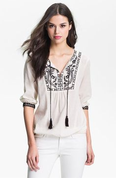 Bellatrix Embroidered Peasant Top available at #Nordstrom