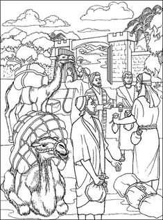 Parable of the Talents - Coloring Page