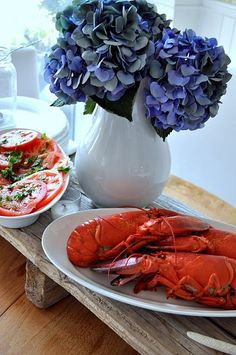 If we don't go to Maine for vacation at least we are going to have some lobster!!  YUM