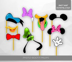 SALE 80% OFF Disney Photo Booth Props Birthday por HappiestPrints