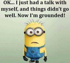I just had a talk with myself..