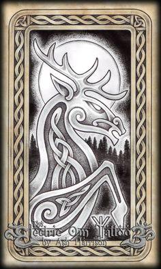 Celtic Knotwork Stag Spirit by VillKat-Arts.deviantart.com on @DeviantArt