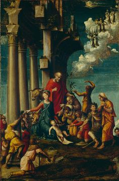 Defendente Ferrari - Adorazione dei pastori - 1530-1540 -  Accademia Carrara di Bergamo Pinacoteca