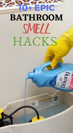 These are some clever bathroom hacks will leave your bathroom smelling amazing.There are lots of cleaning tips and tricks to get the job done.These cleaning tips and smell hacks are all time best to make home smelling amazing. Diy Home Cleaning, Household Cleaning Tips, Cleaning Recipes, House Cleaning Tips, Diy Cleaning Products, Cleaning Solutions, Spring Cleaning Tips, Homemade Cleaning Supplies, Cleaning Wood
