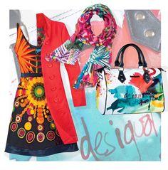 ¡Vive la fiesta tropical de Desigual! Sus piezas con print floral le darán el aire desenfadado del verano a tus looks. Combínalas con prendas en colores sólidos y roba todas las miradas #DesigualMx #TheLook #Fashion