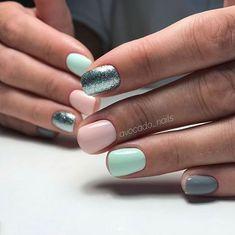 Pretty nails and nail designs Easy Nails, Simple Nails, Love Nails, Pretty Nails, Korean Nail Art, Minimalist Nails, Gelish Nails, Dipped Nails, Cute Acrylic Nails