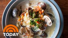 SORTEDfood Makes Clam Chowder With Smoked Bacon   TODAY