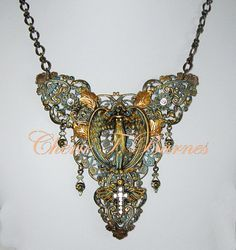 Rococo necklace. Can also be hung on a wall. $70.00