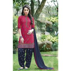 best printed Straight Party-Wear with embroidery  patiala Suit