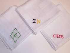 Monogrammed Handkerchiefs by BarryBeaux on Etsy, $21.00 You know it gets hot tailgating!