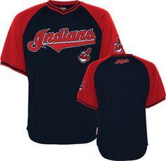 Cleveland Indians Navy/Red Stitches V-Neck Jersey #indians #cleveland #mlb