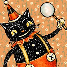 Folk Artist and Illustrator of collectible Halloween, holiday & seasonal sculptures with vintage appeal. Designer of whimsical patterns, printable art, surface designs & folk art ornaments & figurines for the gift and decor market. Halloween Fabric Crafts, Halloween Trees, Halloween Pictures, Holidays Halloween, Halloween Decorations, Retro Halloween, Beistle Halloween, Halloween Stuff, Fabric Wallpaper