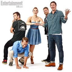 Cast of Haven. Next Friday needs to hurry up!!!! Haven season 4!!!!!!!