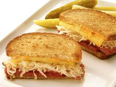 Reuben Sandwich    This substantial sandwich, served hot, is a delicatessen standard, but it's easy to recreate in your own kitchen. The tangy sauerkraut is essential for balancing out the rich corned beef and creamy dressing.